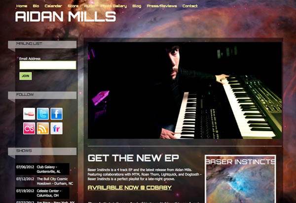 Websites for Musicians and Bands – Create a Music Website