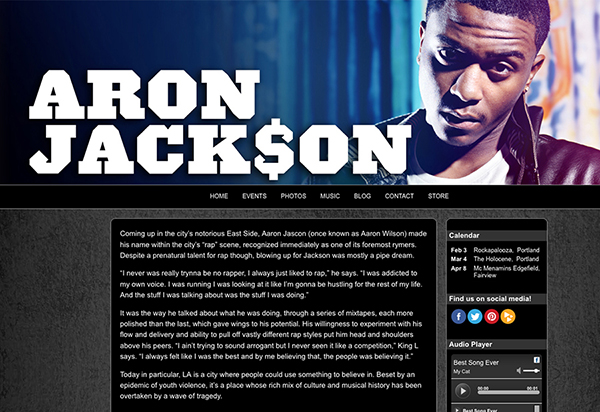 Websites for musicians and bands create a music website for Music artist press release template