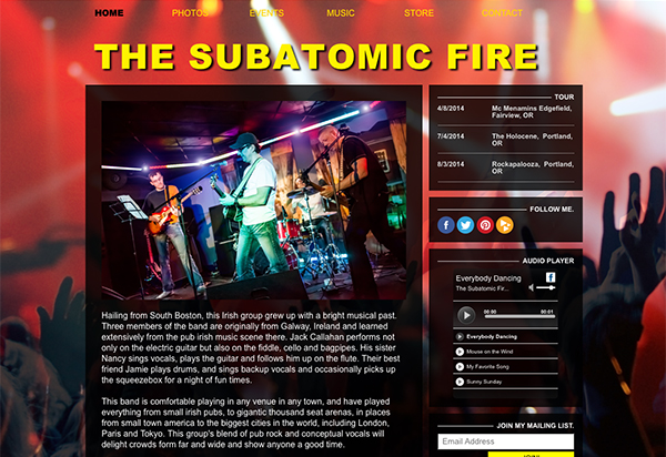 Websites for Musicians and Bands – Create a Music Website | HostBaby
